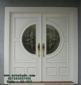 Pintu Rumah Kupu Tarung Duco Putih Minimalis