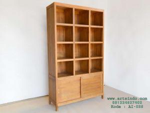 Rak Buku Perpustakaan Kayu Jati