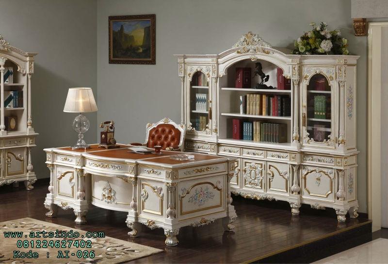 Set Furniture Meja Kantor Mewah Klasik Victorian