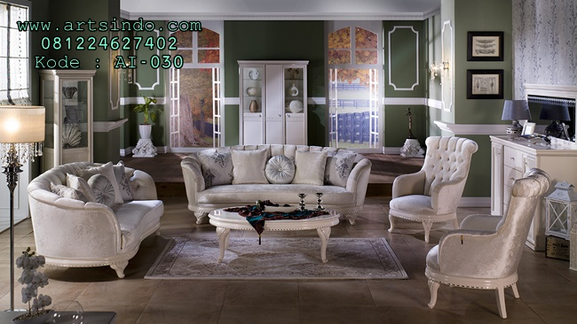 Sofa Tamu Elegan Romance Terbaru