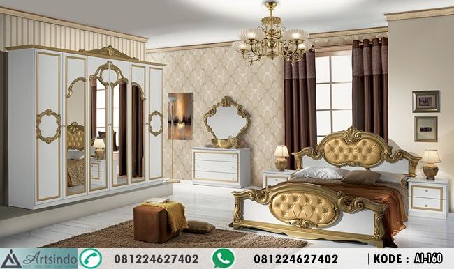 Set Tempat Tidur Baroco Gold Duco