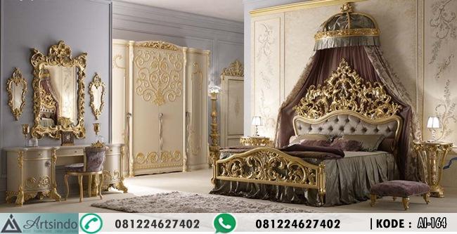 Tempat Tidur Set Pengantin Nirvana Gold