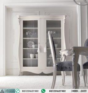 Lemari Pajangan Klasik Putih Elegan AI-179