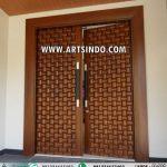Desain Pintu Utama Minimalis Terbaru Kayu Jati