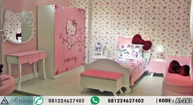 Set Kamar Tidur Anak Hello Kitty Lengkap