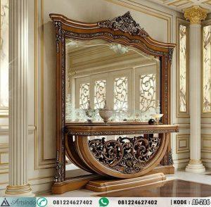 Meja Konsol Mewah With Kaca Hias Besar