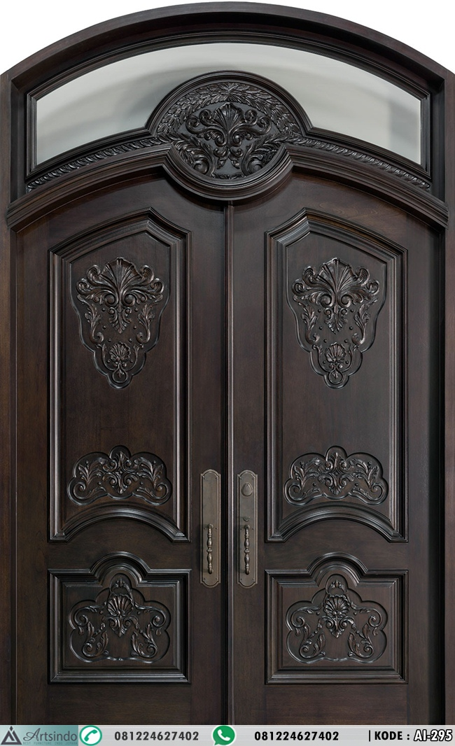 Pintu Klasik Ukir Mewah Lengkung AI-295