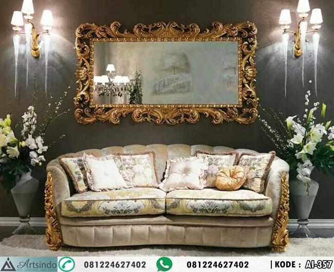 Sofa Mewah Gold With Frame Ukir Klasik AI-357