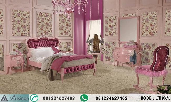 Kamar Anak Perempuan Warna Pink Klasik Modern