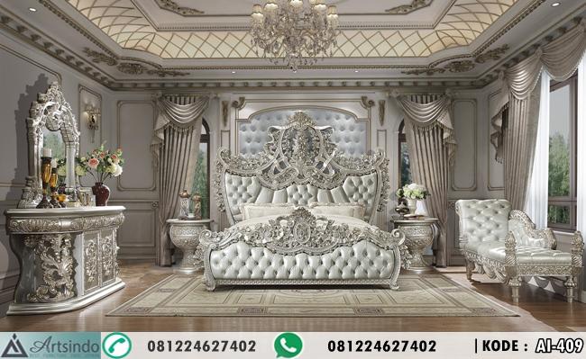 Set Tempat Tidur Royal Ukir Klasik Eropa AI-409