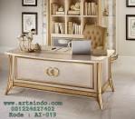 Desain Meja Kerja Mewah Marmer Gold