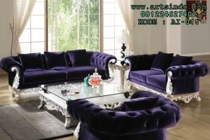 Sofa Kursi Tamu Elegan Warna Biru Tua