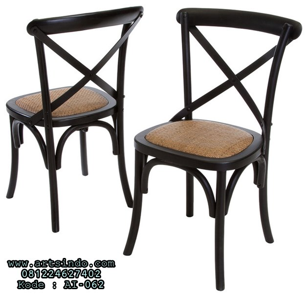 Kursi Silang Cafe Bistro Cross Back Chairs