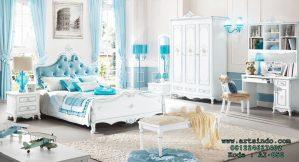 Set Kamar Tidur Anak Mewah Baroque Dekoratif AI-050