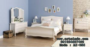 Set Kamar Tidur Anak Remaja Perempuan Klasik Putih