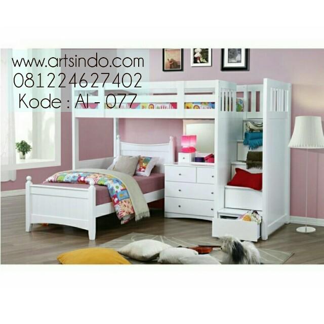 Set Tempat Tidur Tingkat Anak Perempuan Kembar