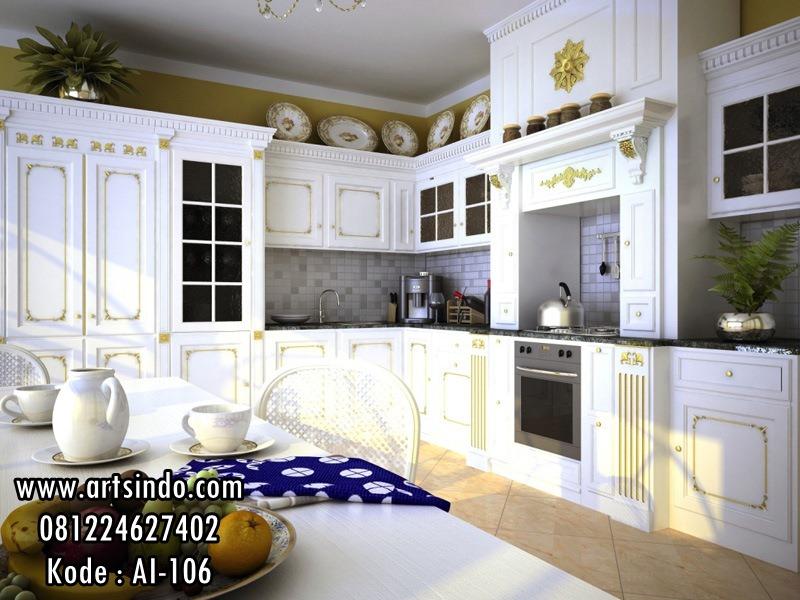 Kitchen Set Putih Klasik Eropa Desain Mewah Terbaru Arts Indo