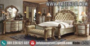 Set Tempat Tidur Mewah Ukir Vendome Gold AI-122