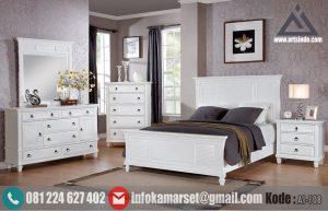 Set Tempat Tidur Minimalis Putih Klasik