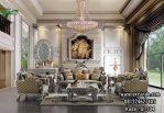 Sofa Mewah Ruang Tamu Silver Klasik Ukir