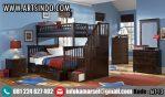 Set Tempat Tidur Tingkat Kayu Jati AIT-12