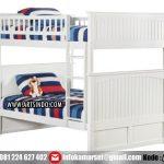 tempat-tidur-tingkat-putih