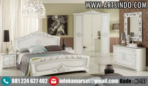 Set Kamar Tidur Putih Klasik Mewah AI-157