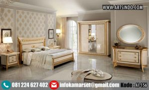 Set Tempat Tidur Gold Marmer Reva