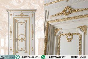Model Pintu Ukiran Gold Putih Mewah