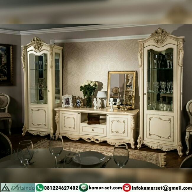 Bufet Tv Klasik With Lemari Hias Mewah