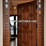 Desain Pintu Utama Minimalis Terbaru Kayu Jati AI-223