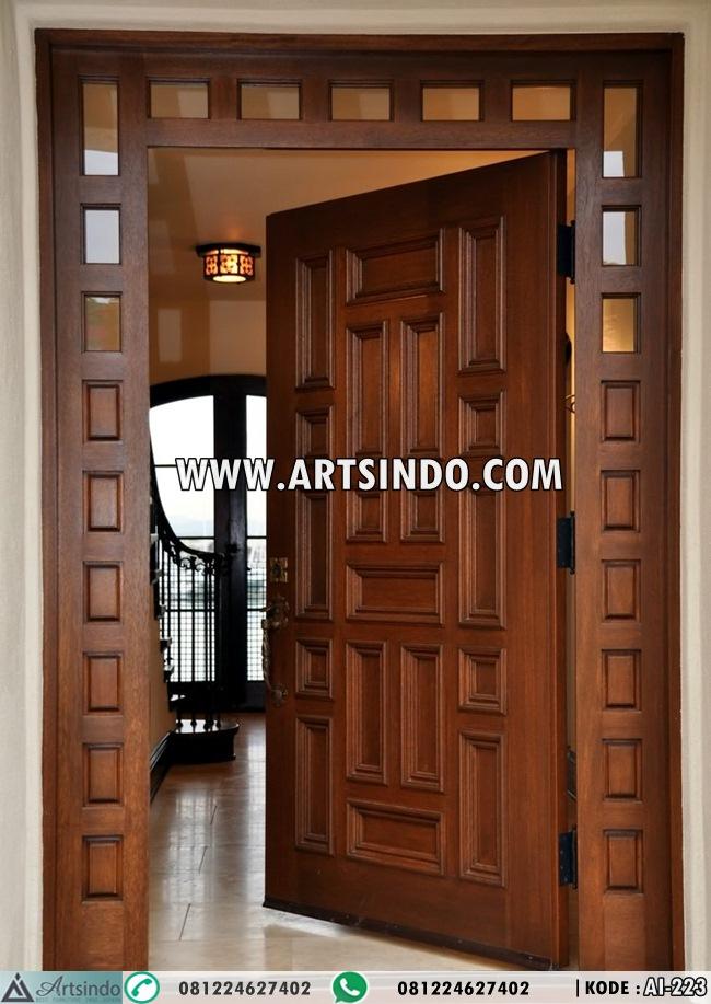 Desain pintu utama minimalis terbaru 2017 kualitas bagus for Outside main door design