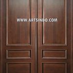 Pintu Kupu Tarung Kayu Jati Panil AI-211