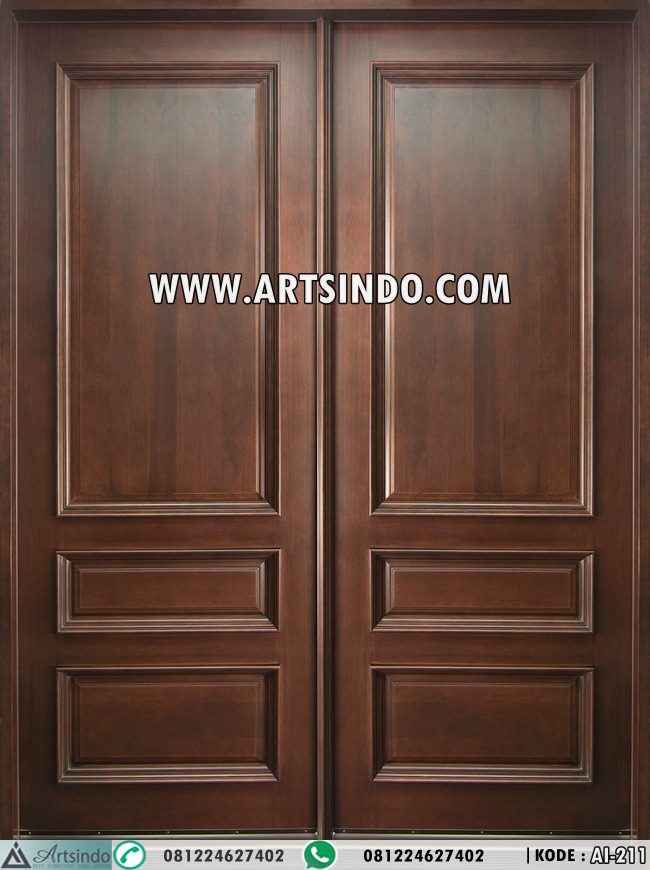 Pintu Kupu Tarung Kayu Jati Panil Ai 211 Arts Indo Furniture Jepara Arts Indo Furniture Jepara