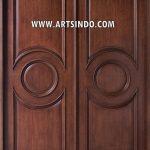 Pintu Utama Klasik Kayu Jati AI-209
