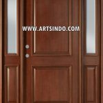 Pintu Utama Single Jati Kusen Jendela Sambung AI-214