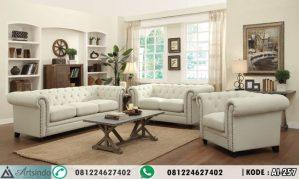 Set Sofa Tamu Minimalis Putih Elegan