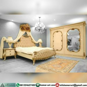 Set Tempat Tidur Pengantin Mewah Ukiran Klasik