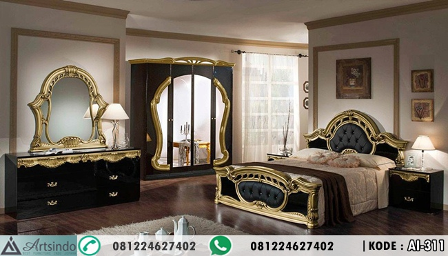 Set Tempat Tidur Casablanca Black Gold Classic