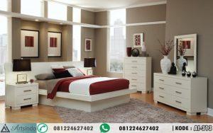 Set Tempat Tidur Minimalis Modern Putih Duco