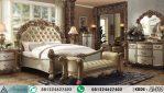 Set Tempat Tidur Ukir Vendome Gold