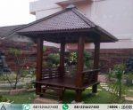 Gazebo Jepara Minimalis Atap Sirap 2×2 m