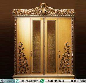 Lemari Pakaian Mewah 4 Pintu Eropa Imperial