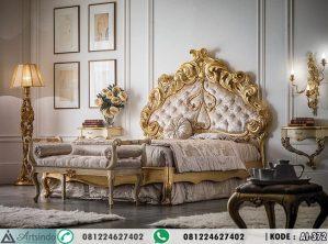 Set Tempat Tidur Ukir Klasik Full Gold
