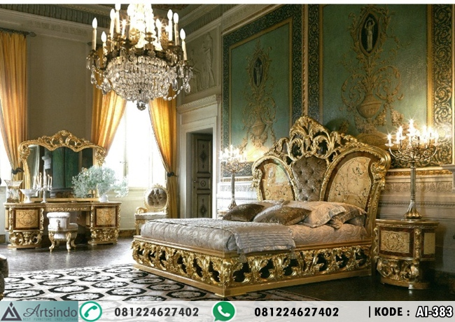 Tempat Tidur Royal Klasik Ukiran Jepara Mewah