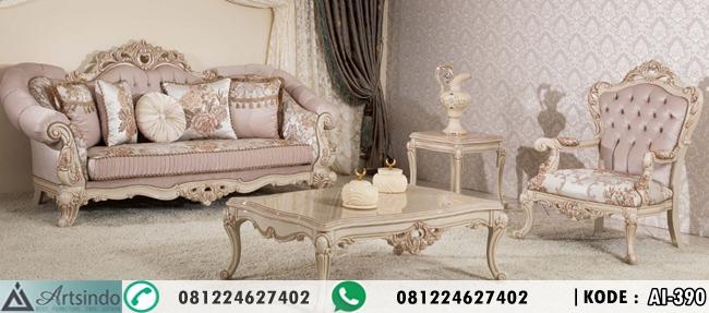 Set Kursi Tamu Klasik Ukiran Mewah Turkey Style