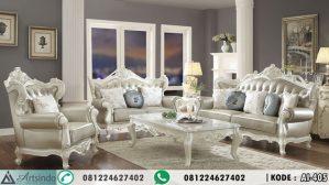 Sofa Tamu Mewah Klasik Leather Erigeron