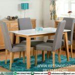 meja makan set minimalis