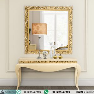 Meja Konsul Cream Gold Leaf AI-419