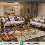Kursi Tamu Ukir Gold Sultan Klasik Turkey AI-441